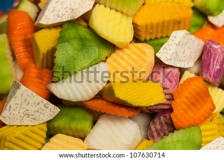 The mix fruit is fresh of nature. - stock photo