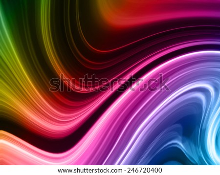 The mixing paint colors - stock photo