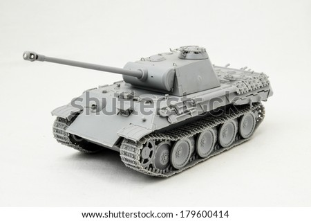 The Model Tank King Tiger 2 of WW2 on a White Background