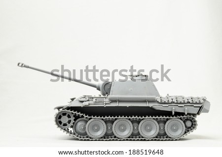 The Model Tank King Tiger 2 of WW2 on a White Background - stock photo