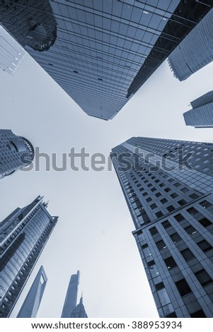 the modern buildings - stock photo