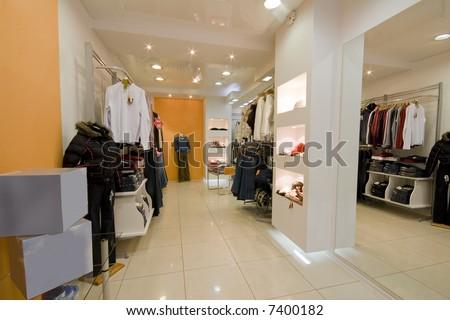 Modern Cloth Shop Interior Photo Stock Photo 7400182 - Shutterstock