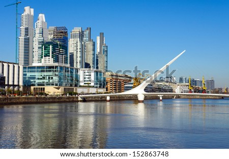 The modern Puerto Madero district in Buenos Aires, Argentina - stock photo