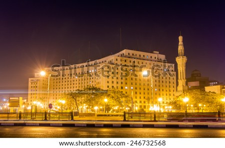 The Mogamma, a government building on Tahrir Square in Cairo - stock photo