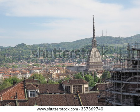 The Mole Antonelliana in Turin Piedmont Italy is the highest building in town