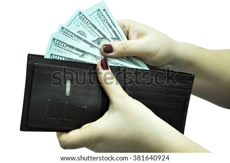The money in hands
