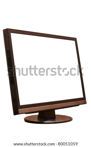 The monitor isolated on a white background