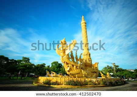 The monument Candle Festival is Landmark of Ubon Ratchathani province Thailand