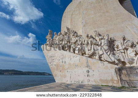 The monument for the conquerers is a famous sight in Lisbon / Portugal