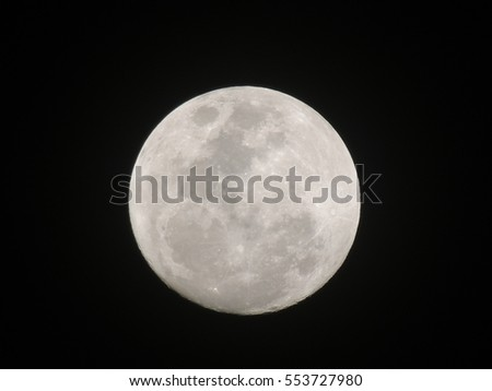 The moon light before full moon tomorrow day
