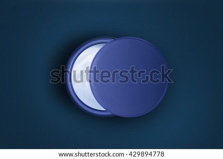 The Moon. Open jar with skin care night cream. Creative concept. Top view - stock photo