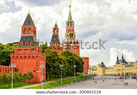 The Moscow Kremlin, the Red Square, Russia - stock photo