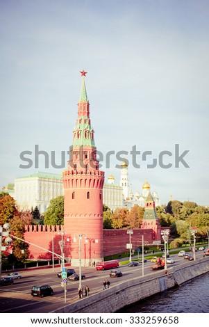 The Moscow Kremlin. UNESCO Heritage, Russia - stock photo