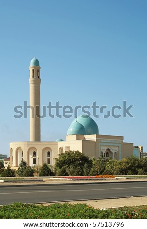 The mosque in the city of Aktau.