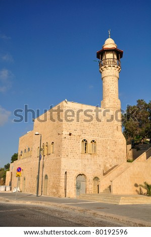 The  mosque of old  Jaffa. Israel.