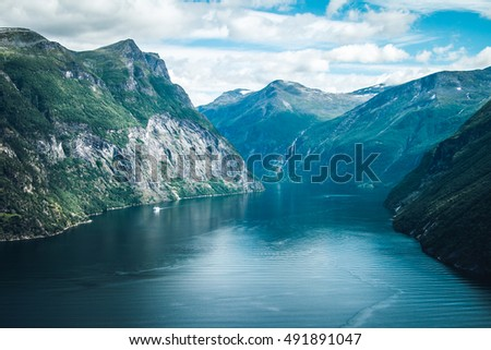 The most famous of Norwegian fjords - Geiranger fjord