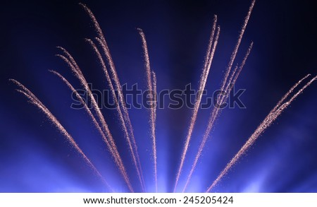 The most spectacular fireworks Beautiful - stock photo