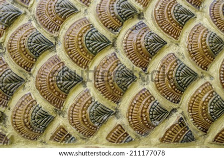 The motifs of the dragon temple Thailand - stock photo