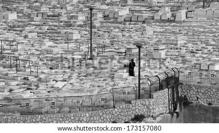 The Mount of Olives in Jerusalem, Israel - stock photo