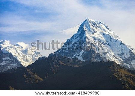 The mountain from Poon Hill, Nepal