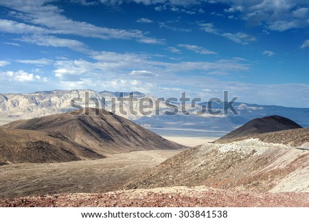 The Mountain Range in Death Valley National park in California, United States. Horizontal Image