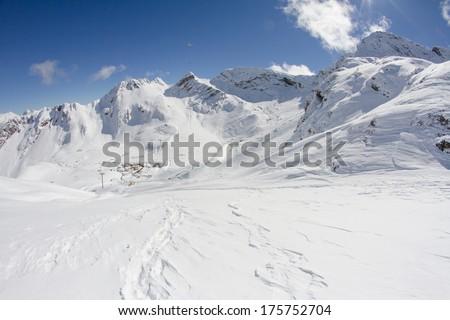 The mountains in Krasnaya Polyana, Sochi, Russia - stock photo