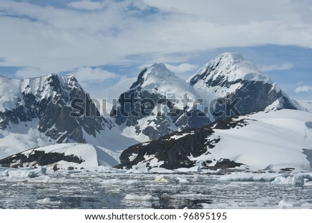 The mountains on the coast of the Antarctic Peninsula - 4.