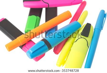 the Multicolored Felt-Tip Pens - stock photo