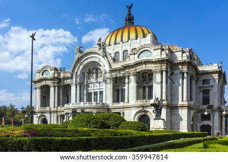 The Museum of Fine Art (Bella Arte) in Mexico City - stock photo