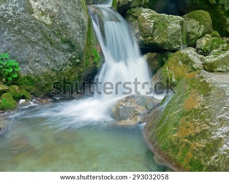"The ""Myra"" waterfalls in Muggendorf, Austria.  - stock photo"