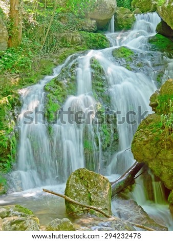 "The ""Myra"" waterfalls in Muggendorf, Austria."