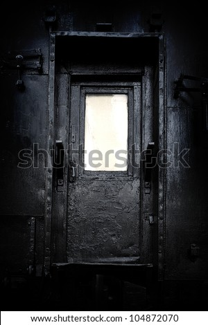The mystical door - stock photo