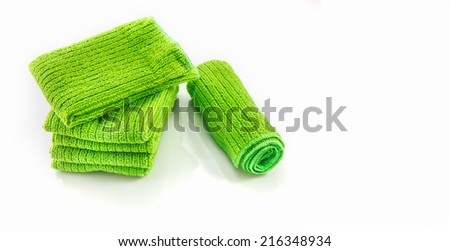 The Napery green color on white background for design or decorate project.