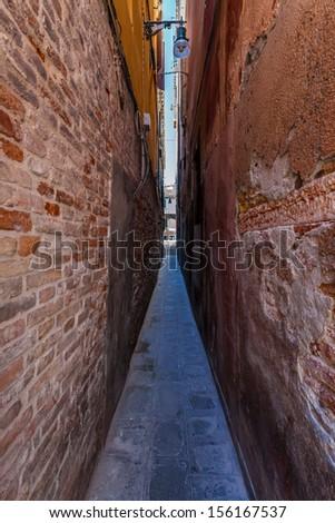 The Narrow Road In Venice Italy