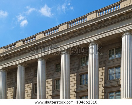 The National Archives Building on Constitution Avenue in Washington, D.C. - stock photo