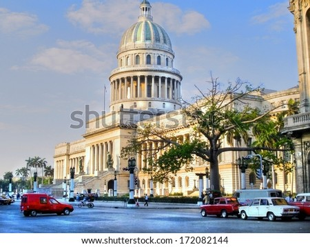The National Capitol Building of Cuba in Havana  - stock photo