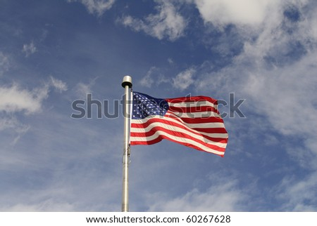 The national flag of the USA