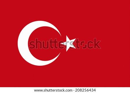 The National Flag Of Turkey - stock photo