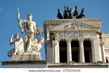 The national monument in Rome