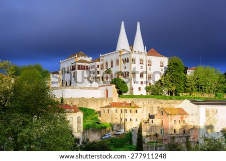 The National Palace, Sintra, Portugal - stock photo