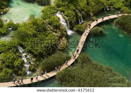 the national park plitvicka lake - Croatia - stock photo