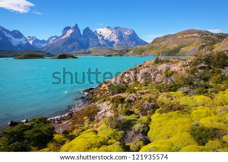 The National Park Torres del Paine, Patagonia, Chile - stock photo