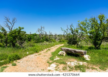 The natural beauty of a nature trail in the Texas Hill Country.