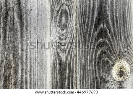 The Natural Dark Wooden Background. Timber wall - stock photo