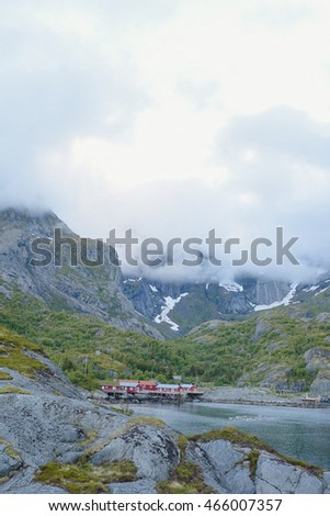 the nature of northern Norway Summer in the mountains