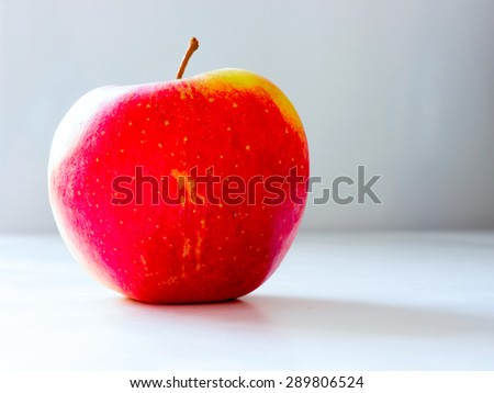 The nature vegetable colored Apple.