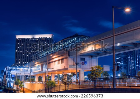 The near future of the railway station (tokyo night view)