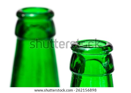the neck of bottle green
