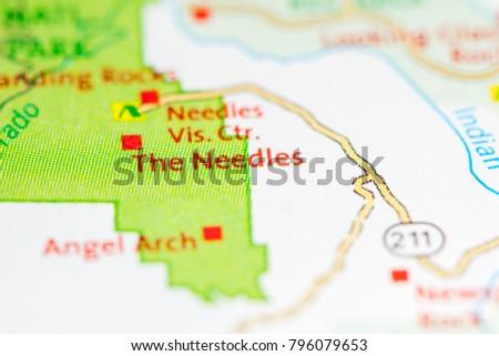 Needles Utah USA On Map Stock Photo (Royalty Free) 796079653 ...