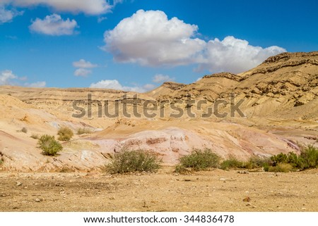 The Negev Desert, Large Crater or Makhtesh Gadol, Israel